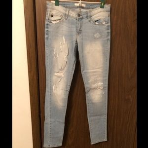 NWOT Ripped Light Blue Jeans